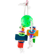 Paradise Waffle Ball with Blocks & Rings Bird Toy
