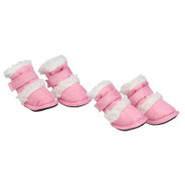 Pet Life Shearling   DUGGZ   Dog Shoes - Set of 4
