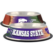 Kansas State Wildcats Stainless Steel Pet Bowl