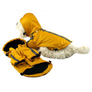 Pet Life Reflecta-Sport Dog Rainbreaker w/ Removab