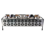 Top Paw Decorative Bone Double Diner for Dogs