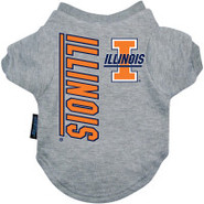 Illinois Fighting Illini Logo Pet T-Shirt