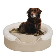 Soft Touch Cuff Oval Cuddler Dog Bed