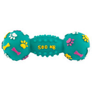 Grreat Choice Squeaky Vinyl Barbell Dog Toy