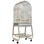 A&amp;E Dome-top Bird Cage with Stand in Sandstone