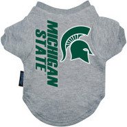 Michigan State Spartans Logo Pet T-Shirt