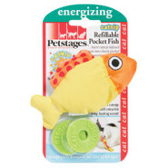 Petstages Pocket Fish Refillable Catnip Cat Toy