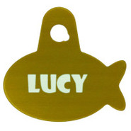 TagWorks Sport Gold Fish Pet Tag
