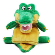 Plush Puppies Ginormous Squeaker Mat Gator Dog Toy