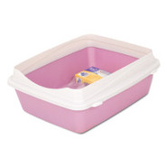 Petmate Rimmed Litter Pan w/ Microban Starter Kit