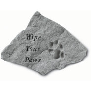 Wipe Your Paws Garden Accent Stone