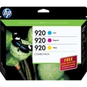 HP 920 Combo-pack Ink Cartridge - Cyan, Magenta, Y