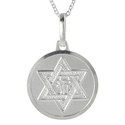 Tressa Silver Italian Holy Star of David Chai Disc
