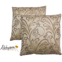 Havana 18-inch Cream Patterned Decorative Pillows