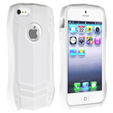 White Sports Car TPU Rubber Skin Case for Apple??