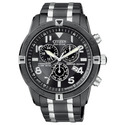 Men's Black Ion-plated Eco-Drive Watch