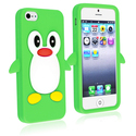 Green Penguin Silicone Skin Case for Apple?? iPhon