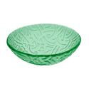Rainbow Artistic Tempered Glass Green Vessel