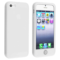 White Silicone Case with Home Button for Apple iPh