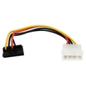6in 4 Pin Molex to Right Angle SATA Power Cable Ad