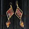 Copper and Brass Zinc Age Diamond Shaped Earrings