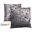 Composure 18-inch Silver/ Black Decorative Pillows