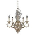 Garland 5+2 light Chandelier in Gold/ Silver Leaf