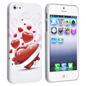 White/ Red Heart Snap-on Rubber Case for Apple?? i