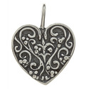 Sterling Silver Floral Heart Pendant
