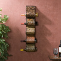 Valorian Metal Wall Mount Wine Rack Sculpture