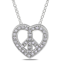 Miadora Sterling Silver 1/10ct TDW Diamond Heart a