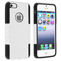 Black Skin/ White Mesh Hybrid Case for Apple?? iPh