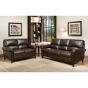 Chandler Brown Leather Sofa and Loveseat Set