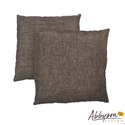 Aspen 18-inch Two-tone Brown Decorative Pillows (S