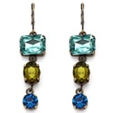 Lillith Star Blue and Green Faceted Lucite Earring