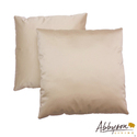 Bliss 18-inch Cream Decorative Pillows (Set of 2)