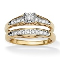 Isabella Collection 18k Gold over Silver Diamond B