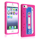 Hot Pink Tape Silicone Case for Apple iPhone 5