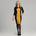 London Times Women's Marigold Yellow/ Black 3