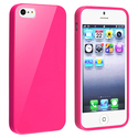 Hot Pink Jelly TPU Rubber Skin Case for Apple?? iP