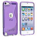 Purple TPU Rubber Skin Case for Apple?? iPod Touch