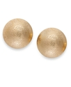 Sequin Earrings, Gold-Tone Bold Stud Earrings