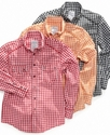 Kids Shirt, Boys Gingham Shirt