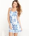 Chemise, Blue Scroll Chemise