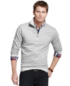 Shirt, Mock Neck Knit Quarter Zip Top