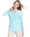 Top, Three-Quarter-Length Sleeve Top