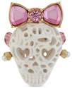 Ring, Gold-Tone Lace Skull Stretch Ring