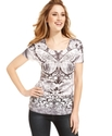Top, Short-Sleeve Printed Tee