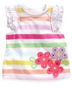 Baby Top, Baby Girls Appliqued Tee