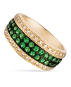 14k Gold Ring, Tsavorite (3/4 ct. t.w.) and Diamon